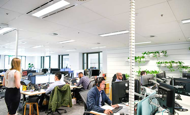 People working in an office
